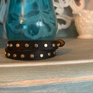 J. Crew Leather Wrap Bracelet